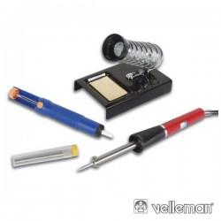 Kit Soldadura Ferro 25W dessoldador/Suporte/Solda