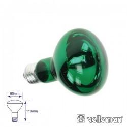 Lâmpada E27 60W 230V R80 Verde Velleman