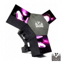 Projector Luz Com Efeitos 72 Leds Tri Fish Vsound