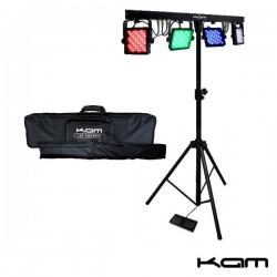 Projector Luz Leds Portátil c/ 4 Luzes Dmx Kam