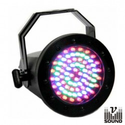 Projector Par36 c/ 76 Leds de 5mm Abs Dmx Vsound