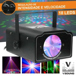 Projector Luz c/ Leds Rgb Vsound