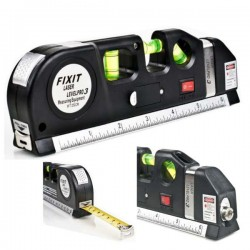 Fita Métrica 2.5M c/Nivel Bolha E Laser Nivelador Fixit
