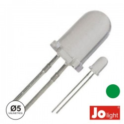 Led 5mm Alto Brilho Verde Jolight