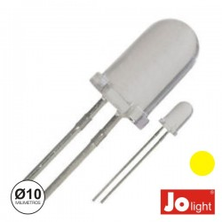 Led 10mm Alto Brilho Amarelo Jolight