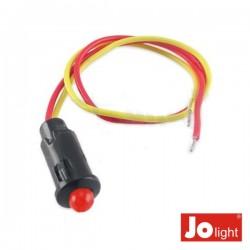 Led 5mm Alto Brilho Vermelho 12V Dc c/19cm Cabo Jolight