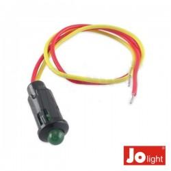 Led 5mm Alto Brilho Verde 12V Dc c/19cm Cabo Jolight