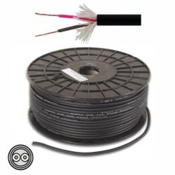 Cabo Microfone 2 Condutores + Malha 2X0.25mm² Ø6mm Preto