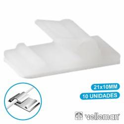 Passa Cabos c/ Adesivo 10X 21X10mm Velleman