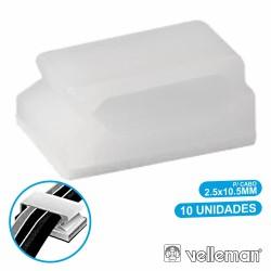 Passa Cabos c/ Adesivo 10X 2.5X10.5mm Velleman