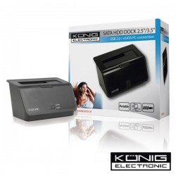 "Docking Station Para Disco Rigido 2.5"" E 3.5"" c/ Usb E Sata Konig"