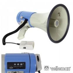 Megafone 25W c/ Ranhura p/ Cartão Sd E Porta Usb Velleman