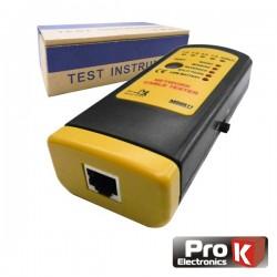 Testador de Cabos Rede Utp/Stp Profissional Prok