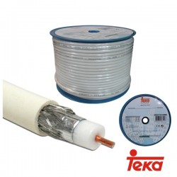 Cabo Coaxial Rg6 - 75 Ohm Ited Branco (100 Mt) Teka