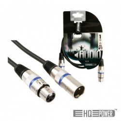 Cabo Xlr 3P Macho / Xlr 3P Fêmea 1M Hq Power