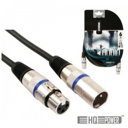 Cabo Xlr 3P Macho / Xlr 3P Fêmea 6M Hq Power