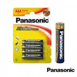 Pilha Alcalina Lr03/AAA 1.5V 4X Blister Panasonic