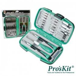 Conjunto de 3 Instrumentos Corte c/ 30 Acessórios Proskit