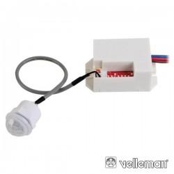 Detector de Movimentos Pir Mini p/ Encastrar Velleman