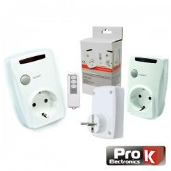 Conjunto de 3 Tomadas Eléctricas c/ Comando S/Fios Prok