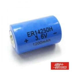 Pilha Lithium 1/2AA Er14250 3.6V 1200Ma Terminal Plano
