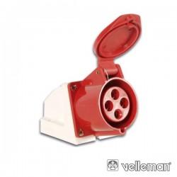 Tomada CEE saliente Trifásica 4 pólos 16A IP44 - IEE309-2