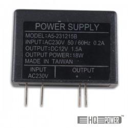Fonte Alimentação 12Vdc 1.5A 18W Ultra-compacta Comutada