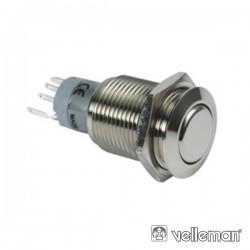 Interruptor Redondo de Metal Dpst 1Na 1Nc