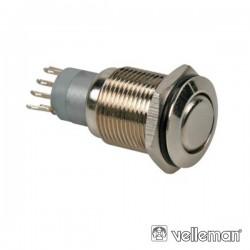 Interruptor Redondo de Metal Dpdt 2Na 2Nc