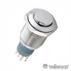 Interruptor Redondo Alto de Metal Spdt 1Na 1Nc