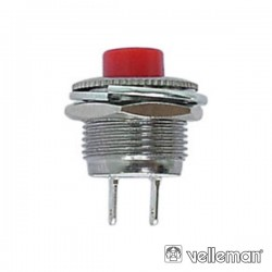 Interruptor Miniatura Vermelho Velleman