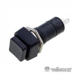 Pulsador Off-(On) Preto 3A/125V