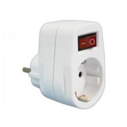 Tomada Eléctrica 1 Saída Interruptor Branco