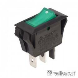 Interruptor Basculante On-Off Luminoso Verde - Velleman