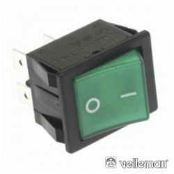Interruptor Basculante On-Off Dpst Luminoso Velleman