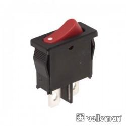 Interruptor Basculante 6A-250V Spst On-Off Vermelho