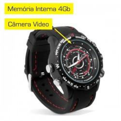 Relógio c/ Câmera de Vídeo 4Gb Incorporada Preto