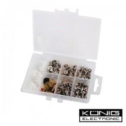 Kit c/ Parafusos E Anilhas 124 Peças Para Computador Konig