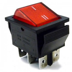 Interruptor Basculante On-On 6P c/Iluminação