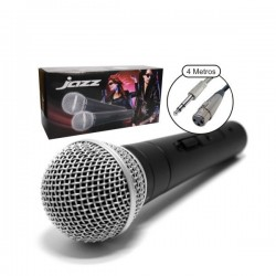 Microfone Voz Metálico Dinâmico Omnidirec. Preto Sphynx