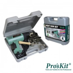 Pistola de Ar Quente 1500W c/ Mala Proskit