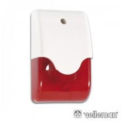 Sirene E Estroboscópio Vermelho Em Caixa c/ Led Velleman