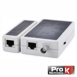 Testador de Cabos Rede Bnc/Rj45 Prok