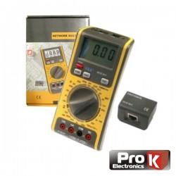Multímetro Digital 3 Em 1 c/ Testador Redes/Linhas Prok