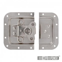 Fechadura p/ Caixa Em Metal Prata 171X126mm Hq Power