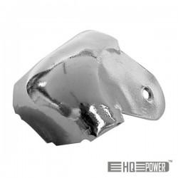 Canto p/ Caixa Acústica Metal Branco 38mmx90° Hq Power
