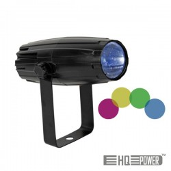 Mini Projector Led Pin Spot 3W Lentes de Cor Intercambiais