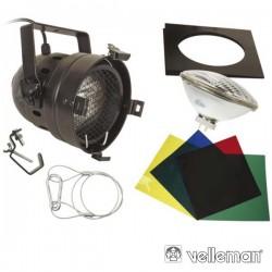 Projector Par56 Curto Preto c/ 4 Filtros Velleman