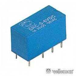 Relé 6Vdc Inversor Bipolar 1A/125V