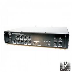 Amplificador Pa 24/220V 4 Zonas 240W Mp3/Usb/Sd/Fm Vsound